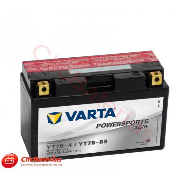 Batería de moto Varta 50701 YT7B-4 / YT7B-BS
