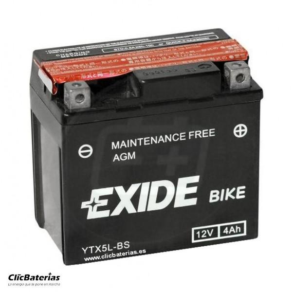 Batería YTX5L-BS para moto EXIDE AGM