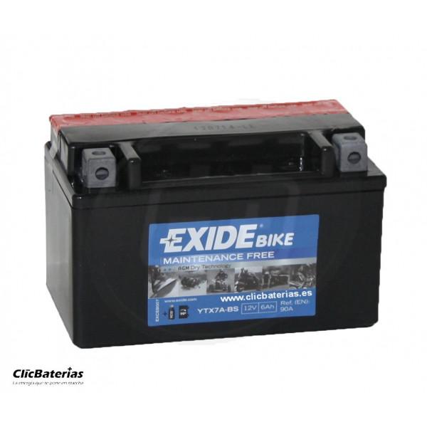 Batería YTX7A-BS para moto EXIDE AGM