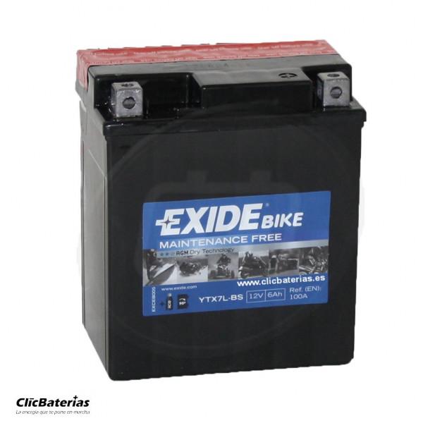Batería YTX7L-BS para moto EXIDE AGM