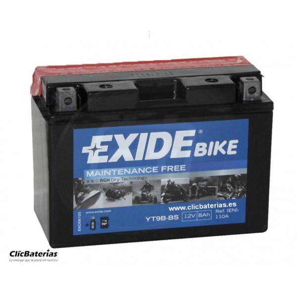 Batería YT9B-BS para moto EXIDE AGM