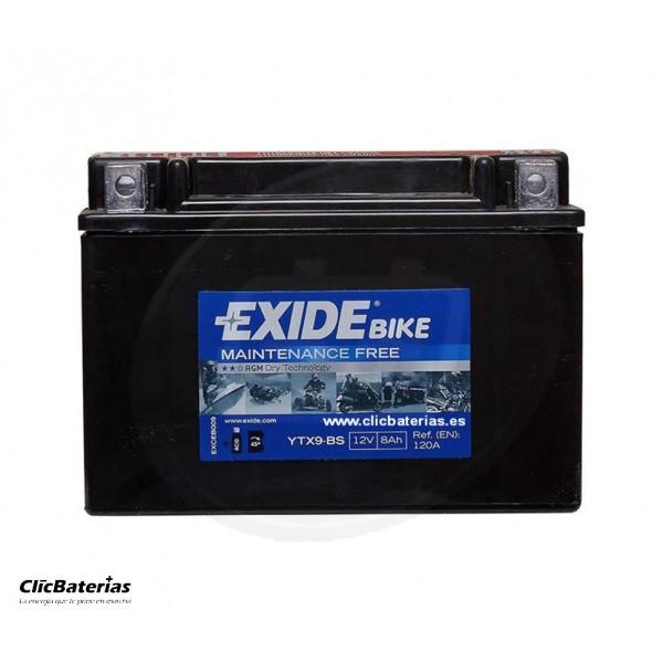 Batería YTX9-BS para moto EXIDE AGM