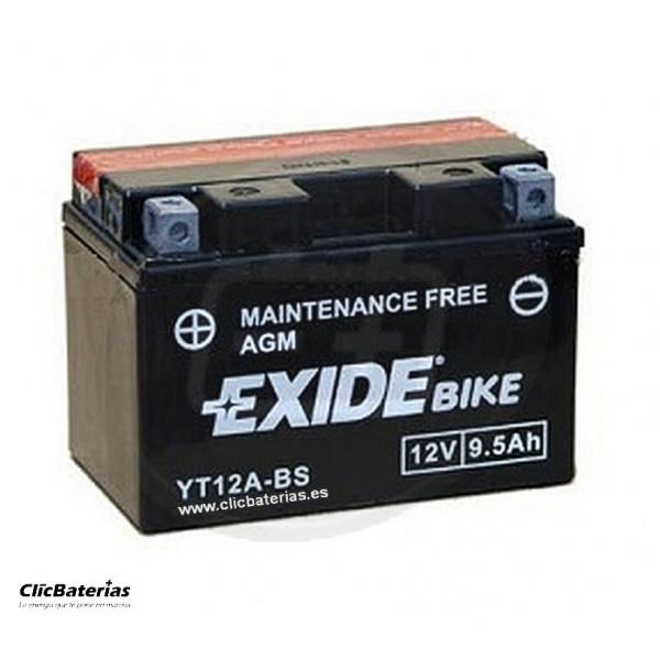 Batería YT12A-BS para moto EXIDE AGM