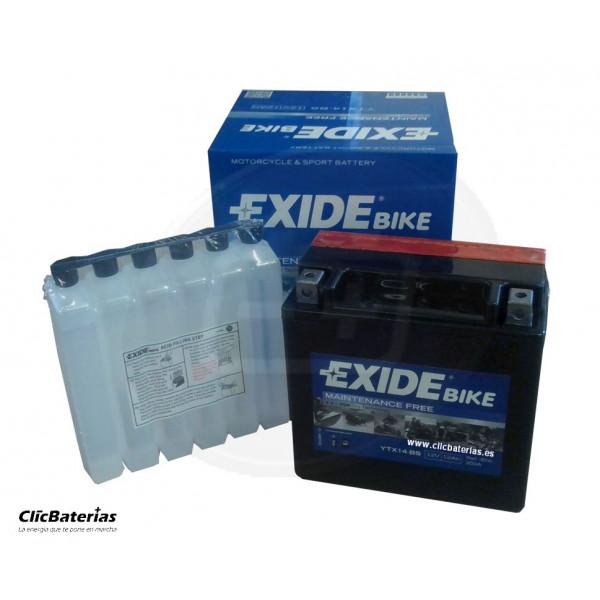 Batería YTX14-BS para moto EXIDE AGM
