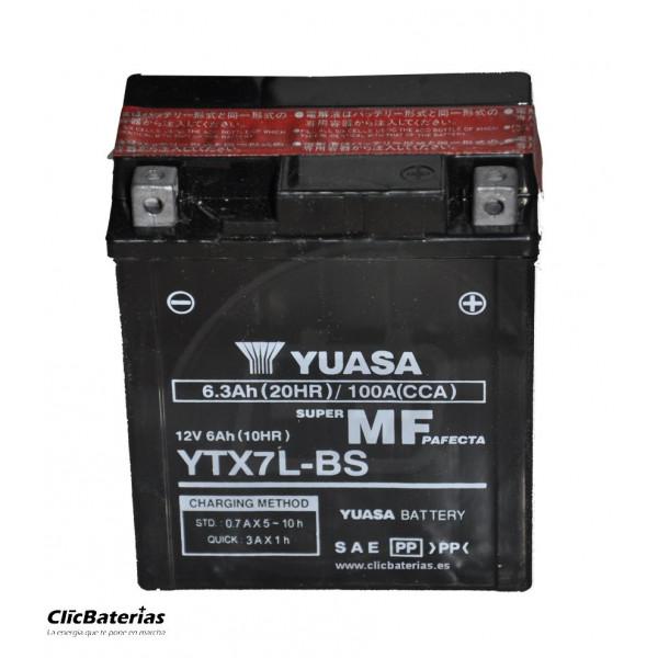 Batería YTX7L-BS para moto YUASA AGM