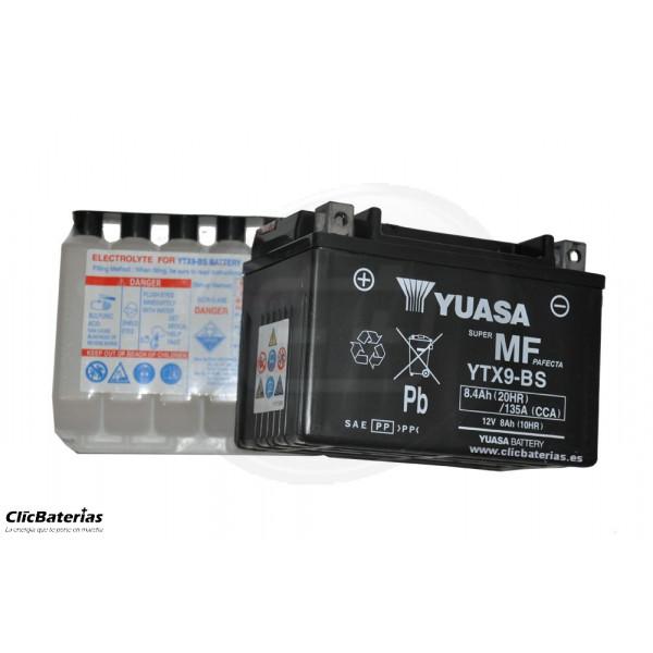 Batería YTX9-BS para moto YUASA AGM