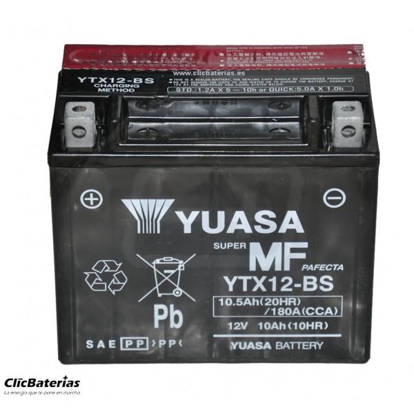 Batería YTX12-BS para moto YUASA AGM