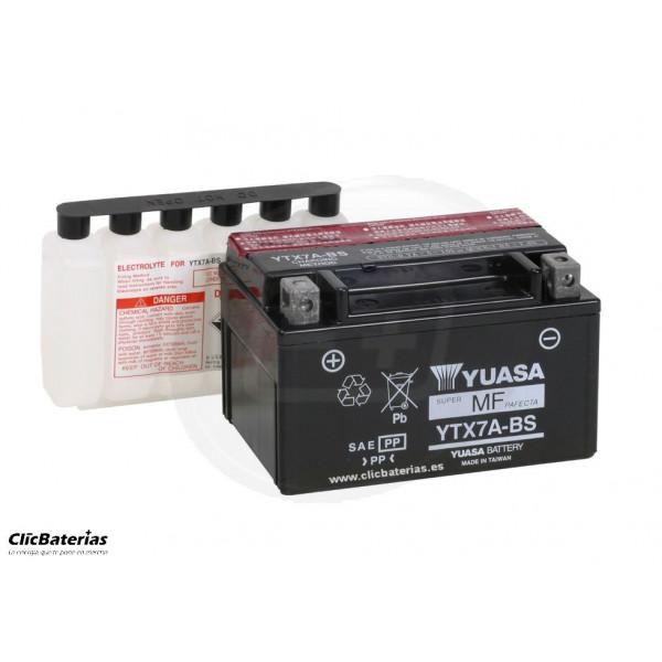 Batería YTX7A-BS para moto YUASA AGM