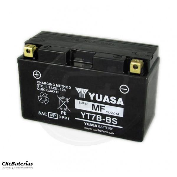 Batería YT7B-BS DRY para moto YUASA AGM