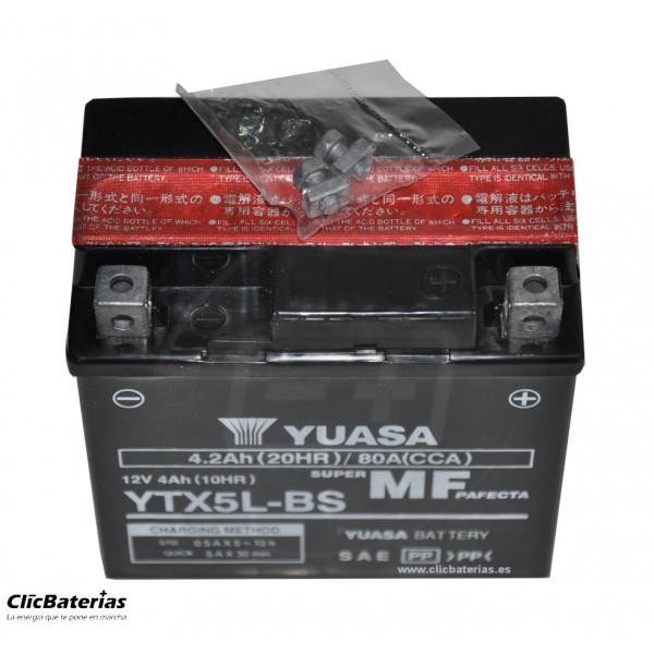 Batería YTX5L-BS para moto YUASA AGM