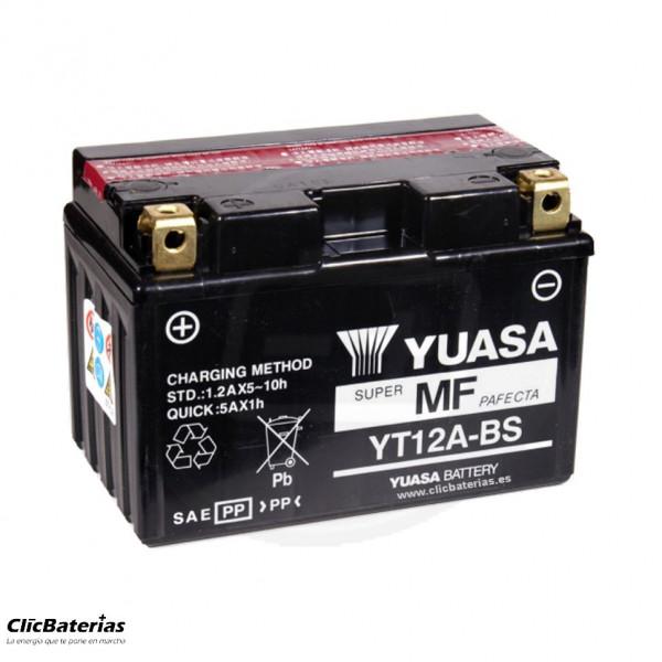 Batería YT12A-BS para moto YUASA AGM