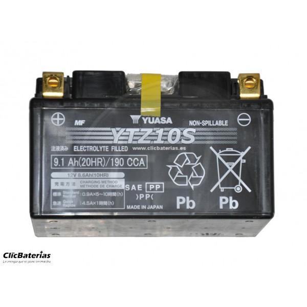 Batería YTZ10S para moto YUASA AGM