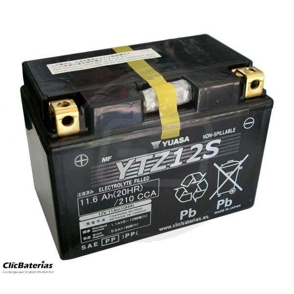 Batería YTZ12S para moto YUASA AGM