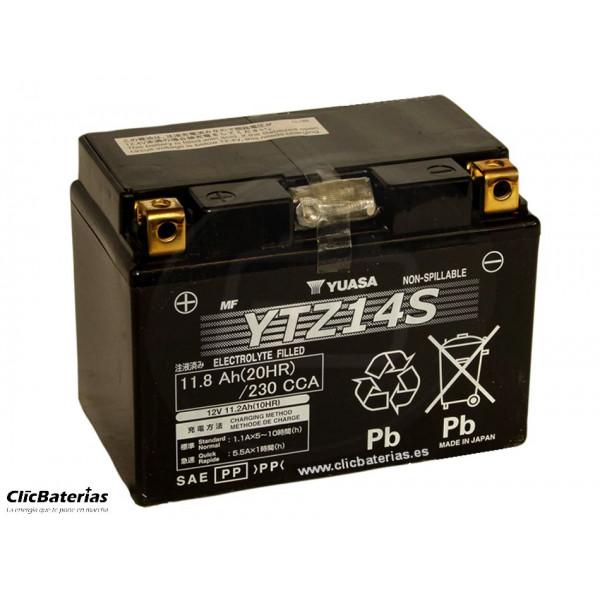 Batería YTZ14S para moto YUASA AGM