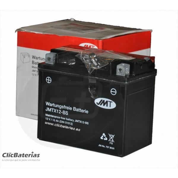 Batería YTX12-BS para moto JMT AGM