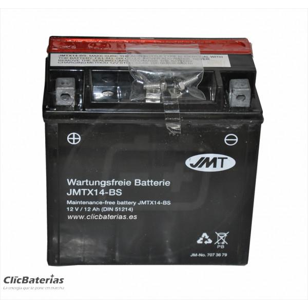 Batería YTX14-BS para moto JMT AGM