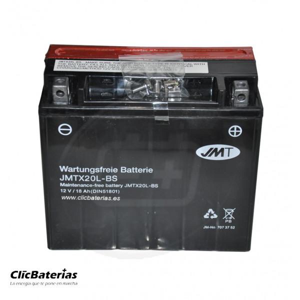 Batería YTX20L-BS para moto JMT AGM