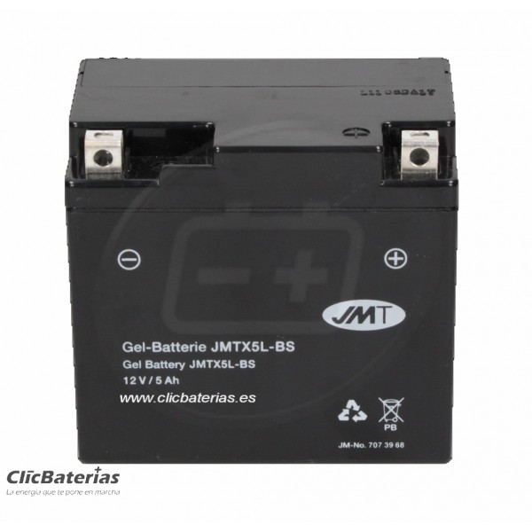 Batería YTX5L-BS para moto JMT GEL