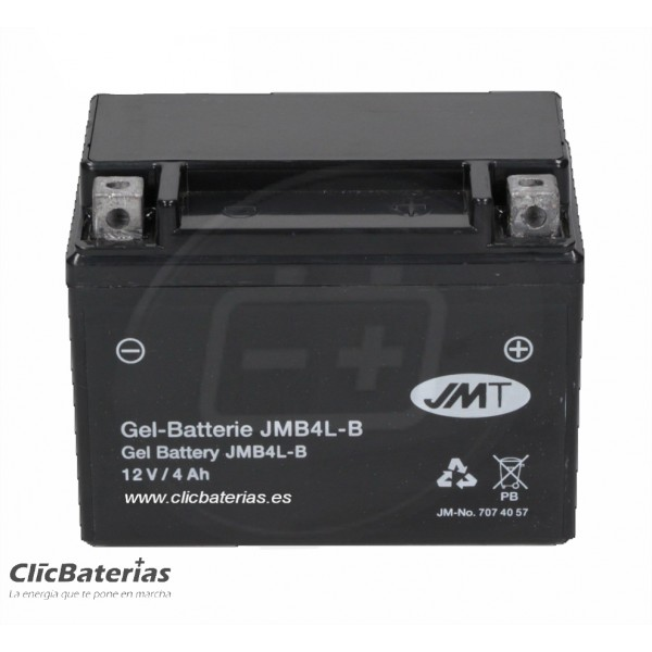 Batería YB4L-B para moto JMT GEL