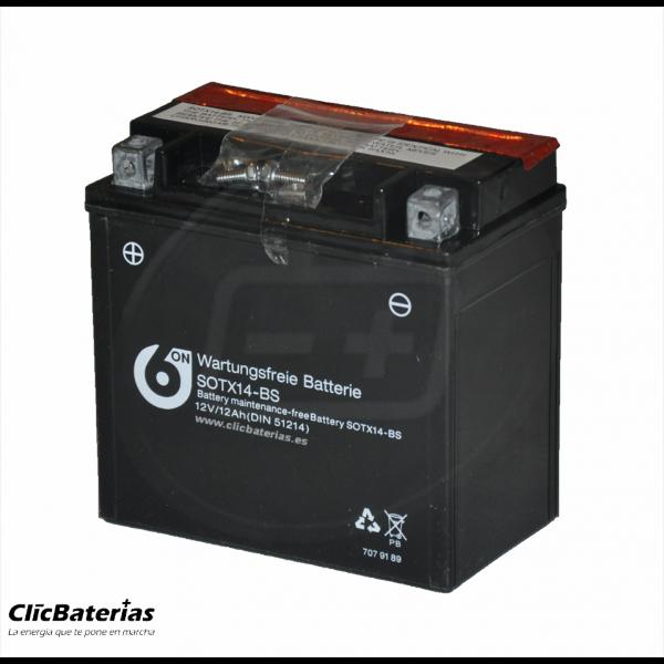 Batería YTX14-BS de moto 6-ON