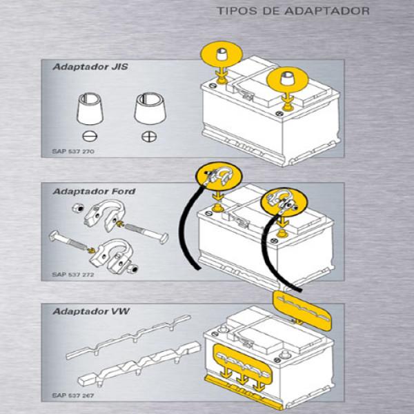 Adaptadores Baterías Varta