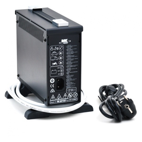MK Powered Cargador GEL LS 24/2 para sillas de ruedas