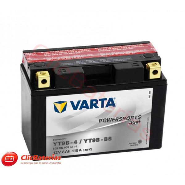 Batería de moto Varta AGM 50902 YT9B-4 YT9B-BS