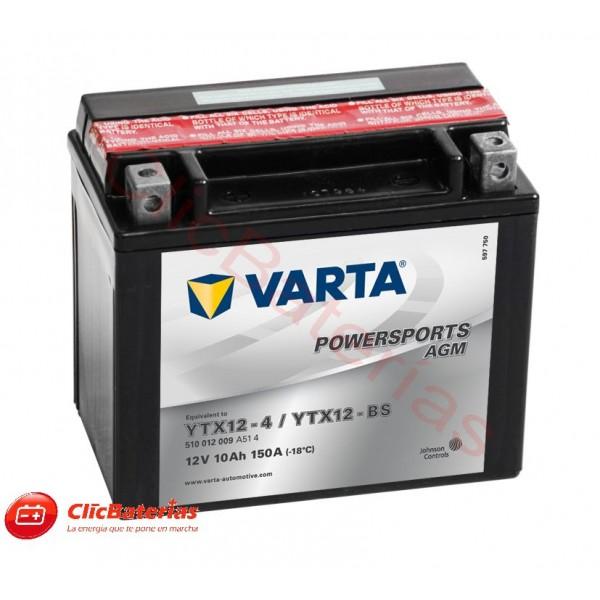 Batería de moto Varta AGM 51012 YTX12-4 YTX12-BS