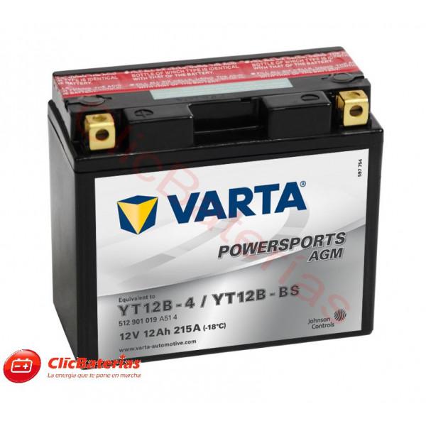 Batería para moto Varta 51201 YT12B-4 YT12B-BS