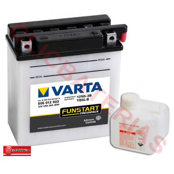 Batería Varta Funstart Freshpack 50512 -  YB5L-B / 12N5-3B