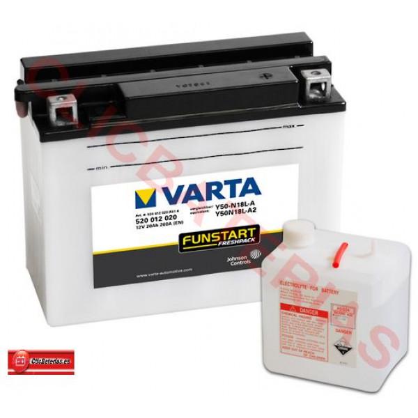 Batería Varta Funstart Freshpack 52012 - Y50-N18L-A / Y50-N18L-A2 para moto