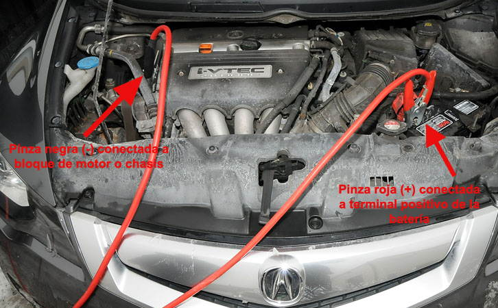 Como conectar las pinzas de batería